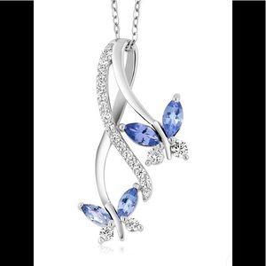 Jewelry - Tanzanite 925 Silver Pendant Necklace